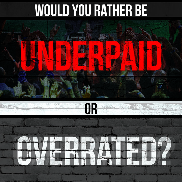 Motivate Me Monday #1: Underpaid or Overrated